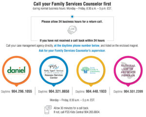 Family Support Services contacts during business hours